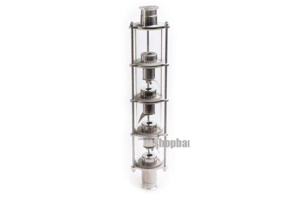 Колпачковая колонна для дистилляции с 2 уровнями очистки